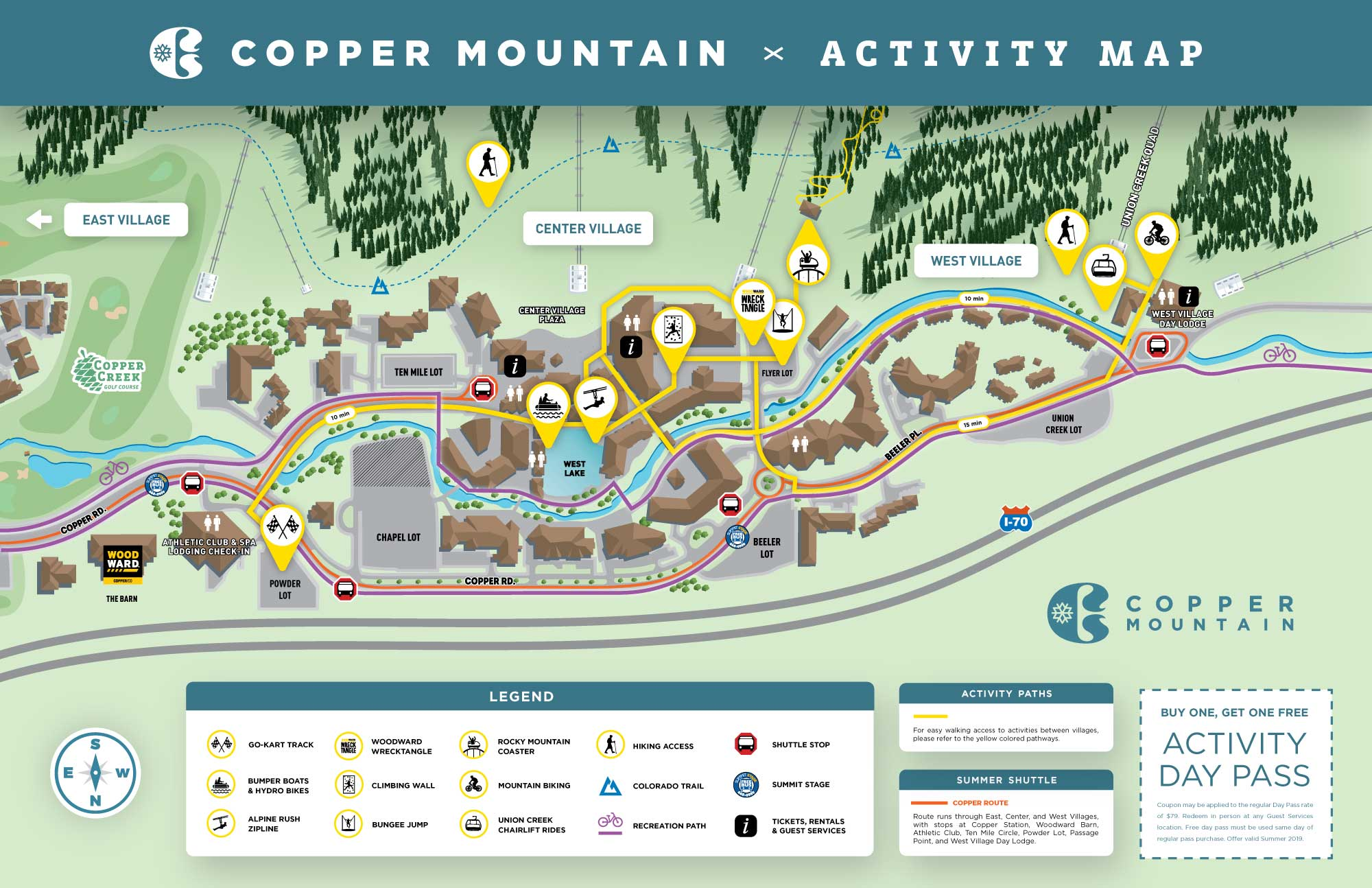 Copper Mountain Summer Village Map on