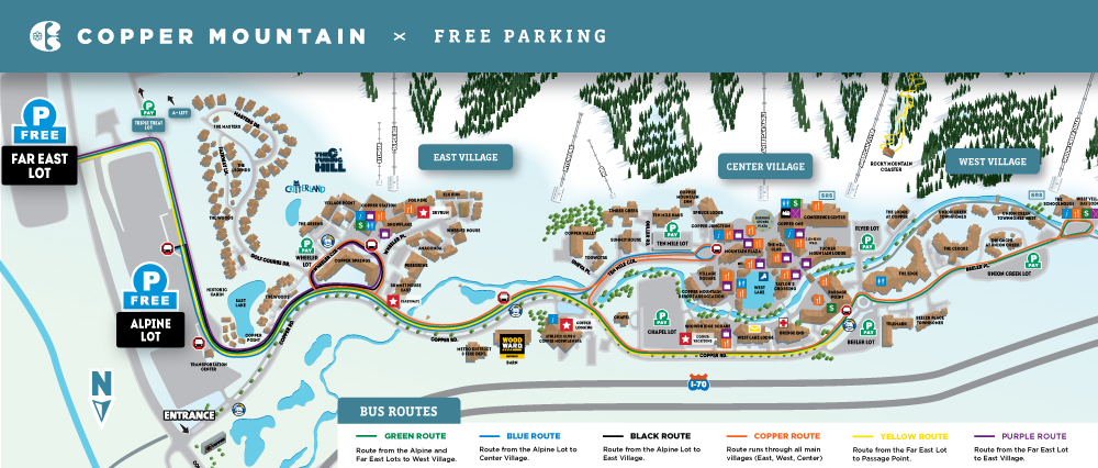 Copper Mountain - Where to Park on