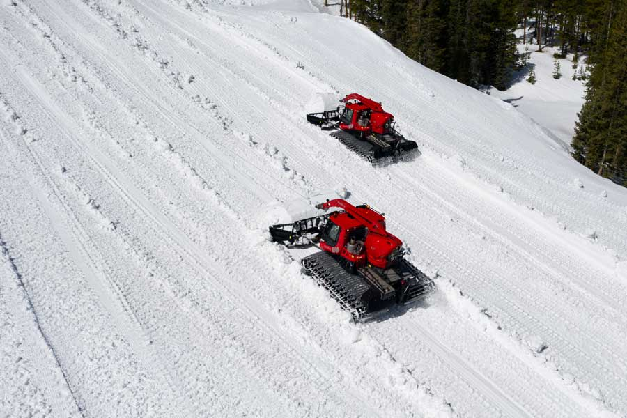 Snowcats take to the snow for Woodward Copper Summer Camp terrain park