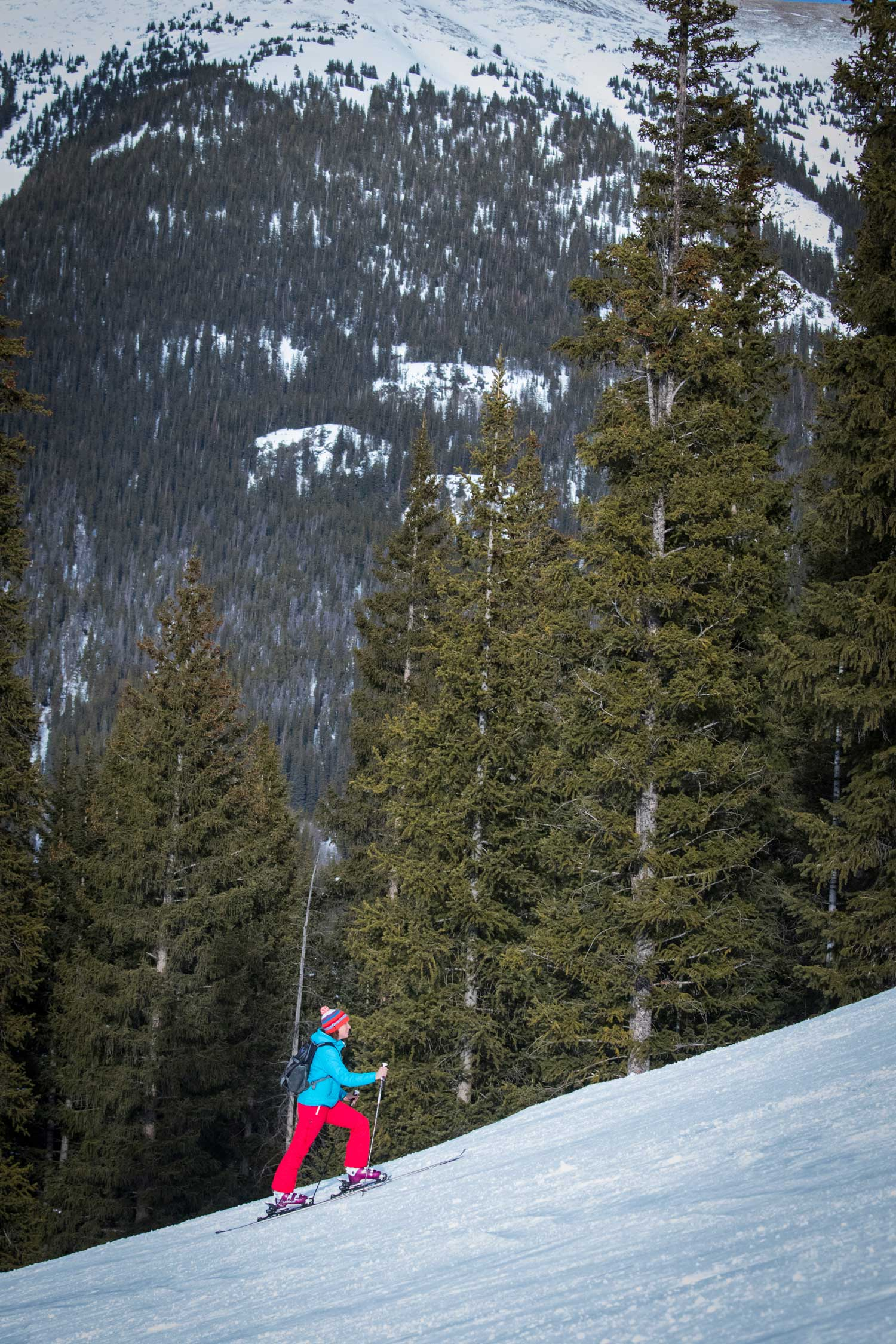 earn your turns: uphill skinning at copper
